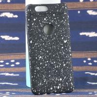 Пластиковый матовый дизайнерский чехол с голографическим принтом Звезды для Google Huawei Nexus 6P Белый