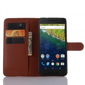 Чехол портмоне подставка с защелкой для Google Huawei Nexus 6P
