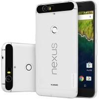 Силиконовый матовый полупрозрачный чехол повышенной защиты для Google Huawei Nexus 6P Белый