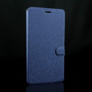Чехол флип подставка на силиконовой основе с отделением для карт текстура Золото для Google Huawei Nexus 6P Синий