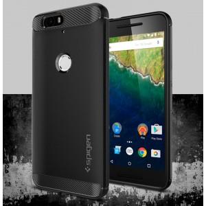 Гибридный противоударный премиум чехол силикон/поликарбонат экстрим защита для Google Huawei Nexus 6P
