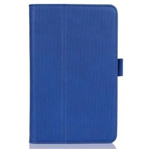 Чехол подставка текстурный с рамочной защитой для планшета Acer Iconia B1-A71 Синий