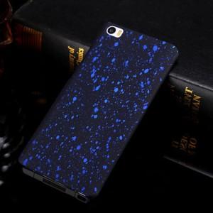 Пластиковый матовый дизайнерский чехол с голографическим принтом Звезды для Xiaomi MI5 Синий