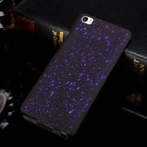 Пластиковый матовый дизайнерский чехол с голографическим принтом Звезды для Xiaomi MI5 Фиолетовый