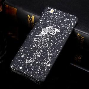 Пластиковый матовый дизайнерский чехол с голографическим принтом Звезды для Xiaomi MI5 Белый