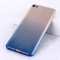 Силиконовый градиентный чехол для Xiaomi MI5 Синий