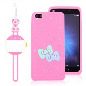 Силиконовый дизайнерский фигурный чехол для Xiaomi MI5 Розовый