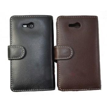 Кожаный чехол-портмоне (нат. кожа) для Nokia Lumia 820