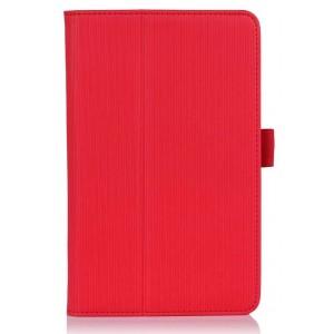 Чехол подставка текстурный с рамочной защитой для планшета Acer Iconia B1-A71 Красный
