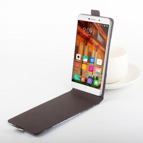 Дизайнерский чехол вертикальная книжка с полноповерхностным принтом и застежкой на клеевой основе для Elephone P9000