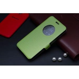 Чехол флип с активным окном и застежкой для ASUS Zenfone 5 Зеленый
