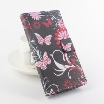 Дизайнерский чехол флип подставка с полноповерхностным принтом на клеевой основе для Elephone P9000