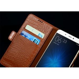 Кожаный чехол портмоне (нат. кожа крокодила) для Xiaomi MI5