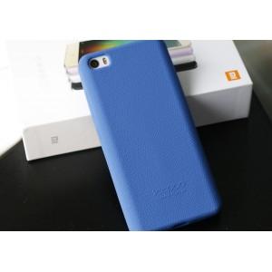 Силиконовый матовый нескользящий софт-тач премиум чехол для Xiaomi MI5 Синий