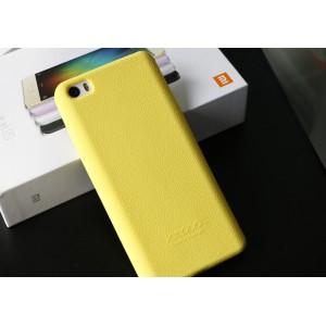 Силиконовый матовый нескользящий софт-тач премиум чехол для Xiaomi MI5 Желтый