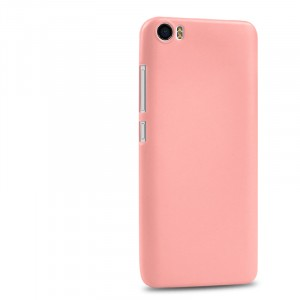 Силиконовый матовый непрозрачный чехол для Xiaomi MI5 Розовый