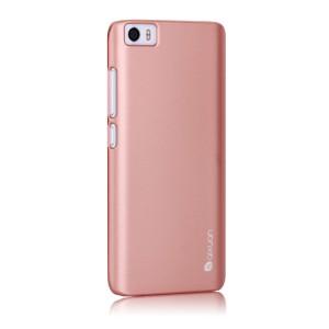 Пластиковый матовый непрозрачный металлик чехол для Xiaomi MI5 Розовый