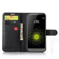 Чехол портмоне подставка на силиконовой основе с магнитной защелкой для LG G5 Черный