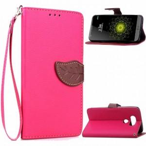 Чехол портмоне подставка на силиконовой основе с дизайнерской магнитной защелкой для LG G5