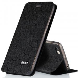 Чехол флип подставка на силиконовой основе текстура Соты для Xiaomi MI5 Черный