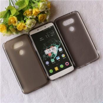 Силиконовый матовый полупрозрачный чехол для LG G5