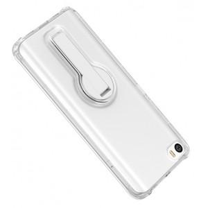 Силиконовый транспарентный чехол подставка для Xiaomi MI5