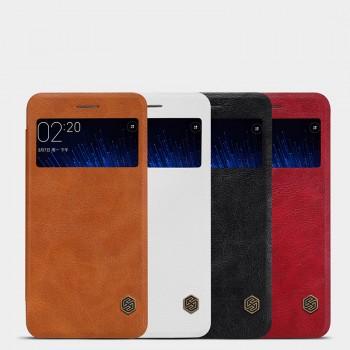 Чехол флип на пластиковой основе с окном вызова текстура Кожа для Xiaomi MI5