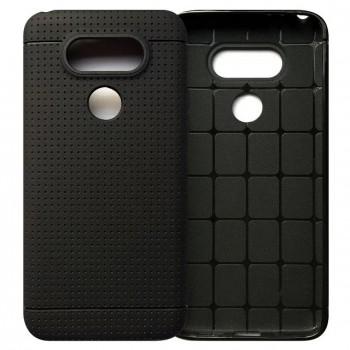 Силиконовый матовый непрозрачный чехол с точечной структурой для LG G5