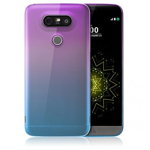 Силиконовый градиентный полупрозрачный чехол для LG G5