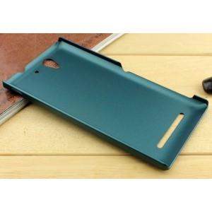 Пластиковый чехол для Sony Xperia C3 Зеленый