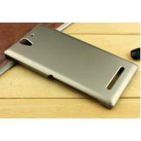 Пластиковый чехол для Sony Xperia C3 Бежевый