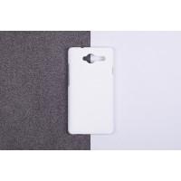Пластиковый матовый непрозрачный чехол для ZTE Blade L3 Белый