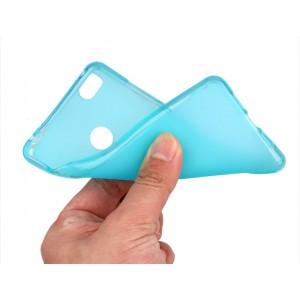Силиконовый матовый полупрозрачный чехол для Xiaomi Mi4S Голубой