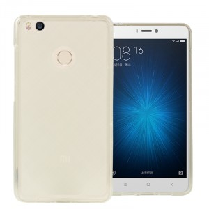 Силиконовый матовый полупрозрачный чехол для Xiaomi Mi4S Белый