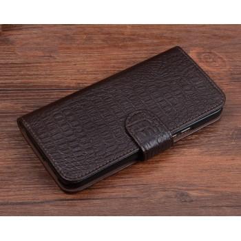 Кожаный чехол портмоне (нат. кожа крокодила) с магнитной застежкой для Xiaomi Mi4S