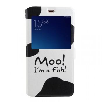 Дизайнерский принтованный чехол флип подставка на силиконовой основе с магнитной застежкой и окном вызова для Xiaomi Mi4S