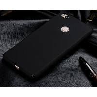 Пластиковый матовый непрозрачный чехол с защитой торцев для Xiaomi Mi4S Черный