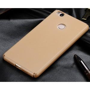 Пластиковый матовый непрозрачный чехол с защитой торцев для Xiaomi Mi4S