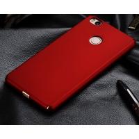 Пластиковый матовый непрозрачный чехол с защитой торцев для Xiaomi Mi4S Красный