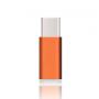 Ультракомпактный переходник Micro USB/USB type C (симметричный) текстура Металлик Голубой
