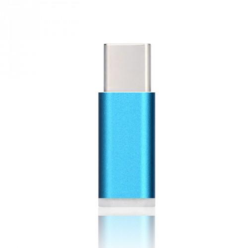 Ультракомпактный переходник Micro USB/USB type C (симметричный) текстура Металлик Бежевый