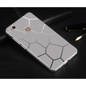 Двухкомпонентный чехол с металлическим бампером и текстурной поликарбонатной накладкой для Xiaomi Mi4S