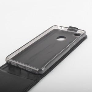 Глянцевый чехол вертикальная книжка на силиконовой основе с магнитной застежкой для Xiaomi Mi4S Черный
