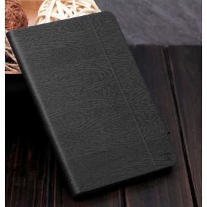 Чехол подставка текстура Дерево на поликарбонатной основе с отделением для стилуса для Ipad Pro Черный