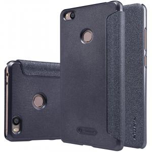 Чехол флип на пластиковой матовой нескользящей основе для Xiaomi Mi4S Черный