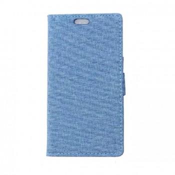 Чехол портмоне подставка с защелкой текстура Ткань для Alcatel OneTouch Pop Star 3G 5022d
