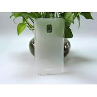Силиконовый матовый полупрозрачный чехол для Alcatel OneTouch Pop Star 3G 5022d Белый