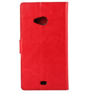 Глянцевый чехол портмоне подставка на пластиковой основе с защелкой для Microsoft Lumia 535