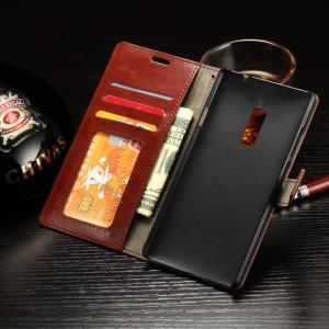 Глянцевый чехол портмоне подставка с защелкой для OnePlus 2