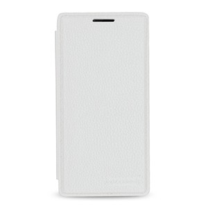 Кожаный смарт чехол горизонтальная книжка (нат. кожа) для OnePlus 2